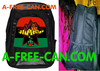 "Grand Sac à Dos: ""HIP HOP RBG BLACKSTAR BASKETBALL v1"" by A-FREE-CAN.COM"