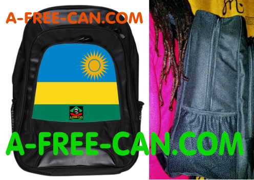 "Grand Sac à Dos: ""DRAPEAU RWANDA"" by A-FREE-CAN.COM"