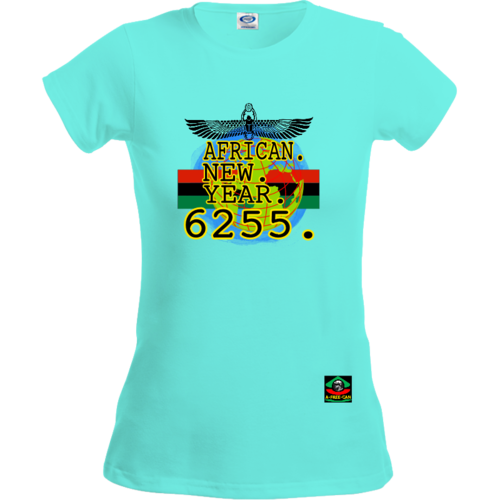 "T-Shirt pour Femmes: ""AFRICAN NEW YEAR 6255 v1"" by A-FREE-CAN.COM"