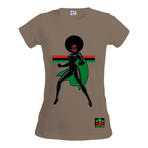 "T-Shirt pour Femmes: ""SUPER NATURAL LUEJI (vrbg1)"" by A-FREE-CAN.COM"