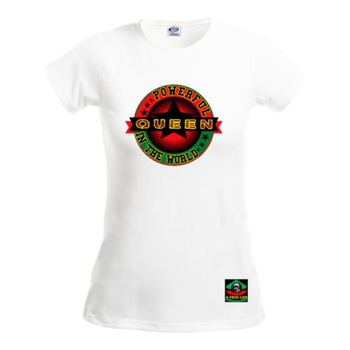 "T-SHIRT POUR FEMMES (Col Rond): ""POWERFUL QUEEN IN THE WORLD (rbg S2)"" by A-FREE-CAN.COM"