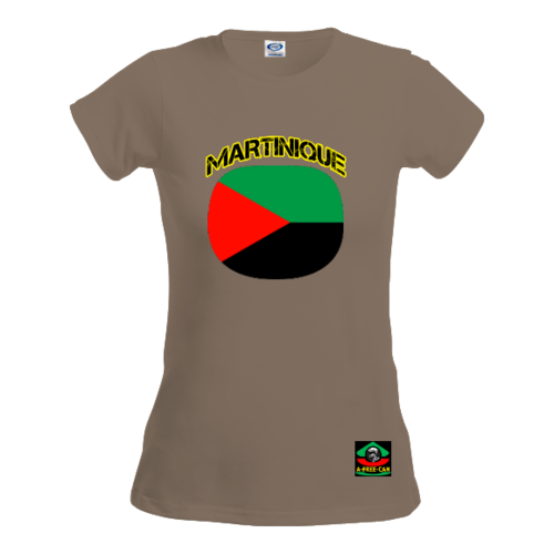 "T-SHIRT, Femmes: ""MARTINIQUE DRAPEAU (v1a)"" by A-FREE-CAN.COM"
