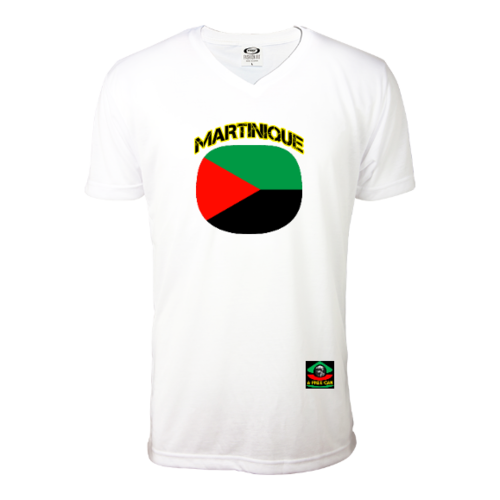 "T-SHIRT, Hommes: ""MARTINIQUE DRAPEAU (v1a)"" by A-FREE-CAN.COM"