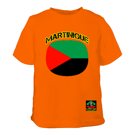 "T-SHIRT POUR ENFANTS, Unisex: ""MARTINIQUE DRAPEAU (v1a)"" by A-FREE-CAN.COM"