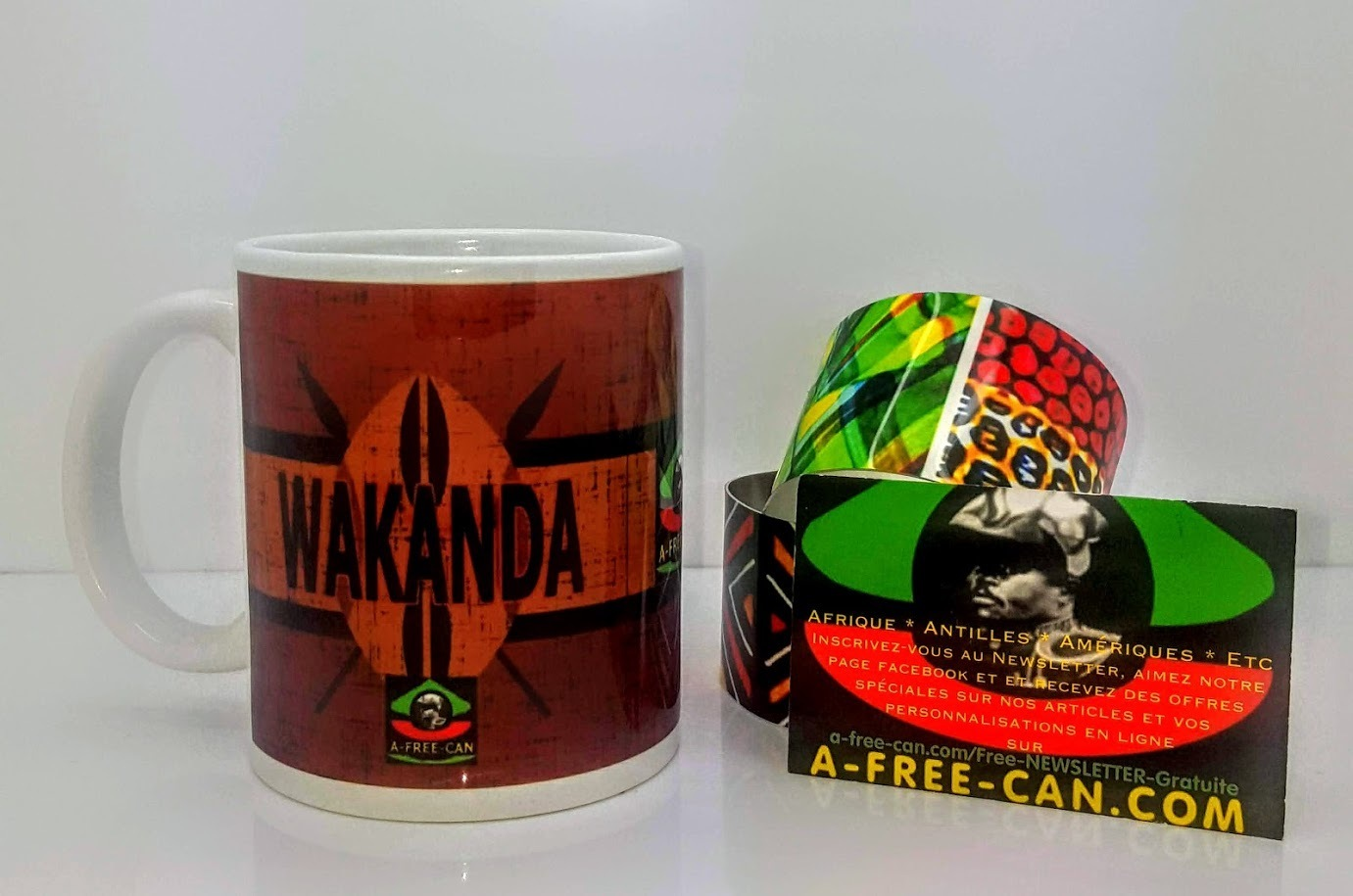 "DUO MUGS Medium: ""WAKANDA MAASAÏ v1"" (2 Tasses par pack) by A-FREE-CAN.COM"
