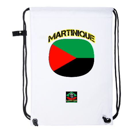"Drawstring Backpack: ""DRAPEAU MARTINIQUE"" by A-FREE-CAN.COM"