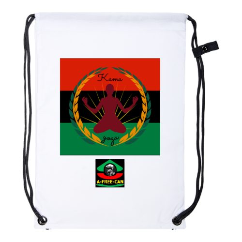 "Drawstring Backpack: ""KAMA YOGA (rbg v2)"" by A-FREE-CAN.COM"