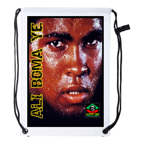 "Drawstring Backpack: ""ALI BOMA YÉ (Full Version) v1"" by A-FREE-CAN.COM"