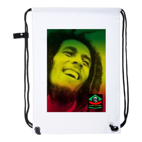 "Drawstring Backpack: ""BERHANE SELASSIE (bob marley) v1"" by A-FREE-CAN.COM"