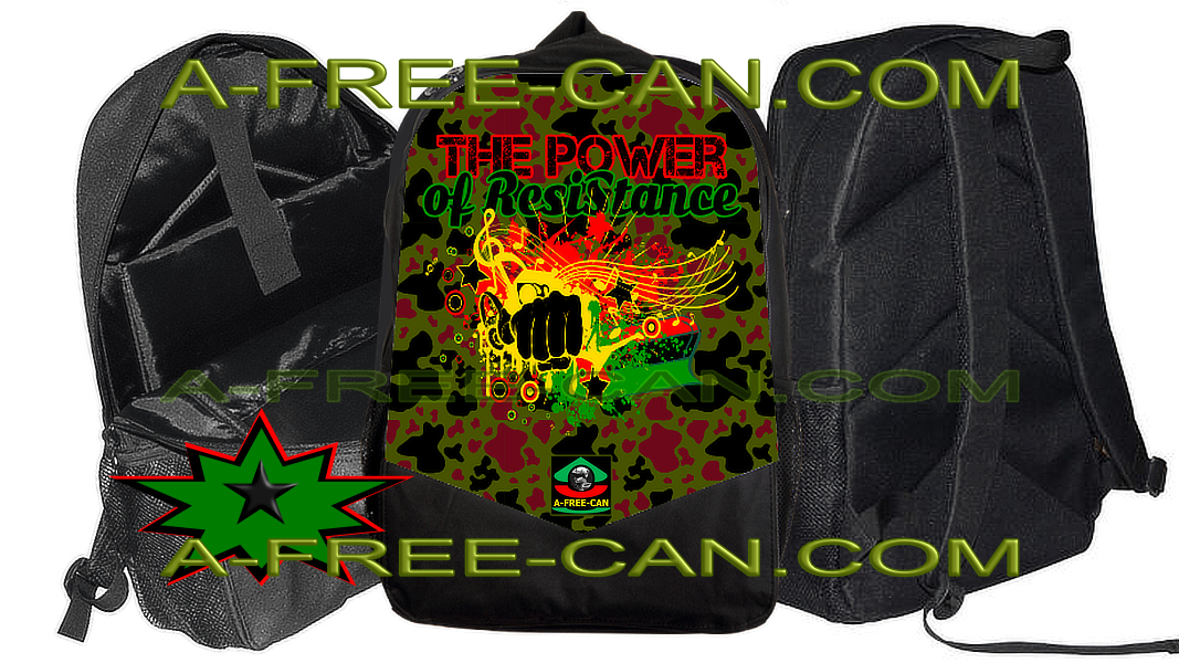 """THE POWER OF RESISTANCE RBG CAMO"" by A-FREE-CAN.COM (Grand Sac à Dos Vitoria)"