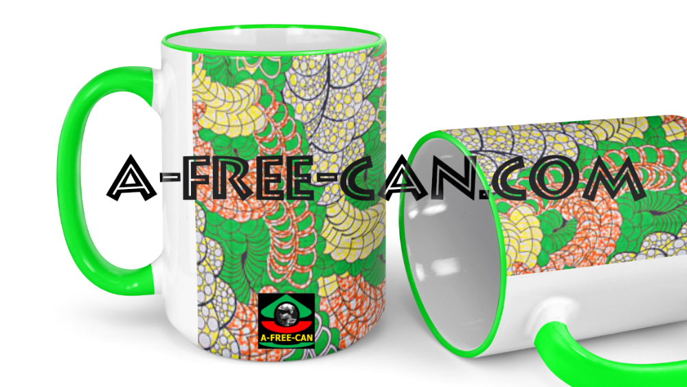 """VEGAN SOUL"" (Lot de 2 Grands Mugs) by A-FREE-CAN.COM"