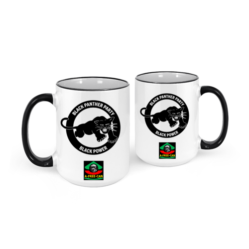 """BLACK PANTHER PARTY, BLACK POWER"" by A-FREE-CAN.COM - (2 Mugs par lot)"