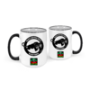 """BLACK PANTHER PARTY, BLACK POWER"" by A-FREE-CAN.COM - (2 Mugs)"