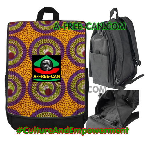 "Grand Sac à Dos: ""WAX KAMANGA"" by A-FREE-CAN.COM"