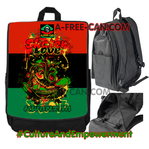"Grand Sac à Dos: ""RBG SKATERS LOVE KWANZAA v1 Flag"" by A-FREE-CAN.COM"