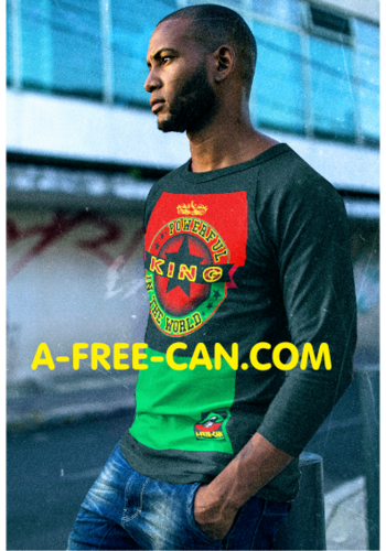 """POWERFUL KING IN THE WORLD vR3K"" by A-FREE-CAN.COM - (T-Shirt Raglan pour Hommes)"