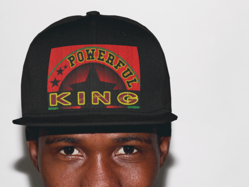 """POWERFUL KING"" by A-FREE-CAN.COM - (Casquette)"