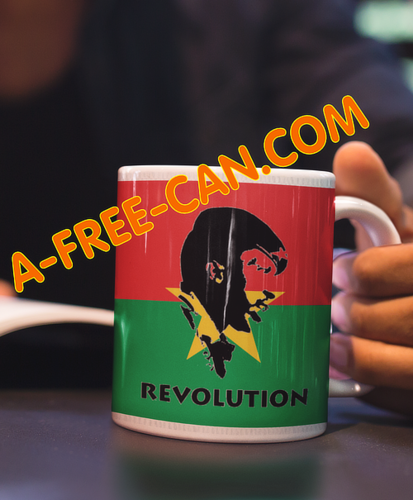 """SANKARA REVOLUTION vFlag"" by A-FREE-CAN.COM - (Pack de 2 Mugs)"