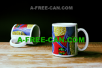 """BAMAKO"" by A-FREE-CAN.COM - (2 Mugs par lot)"