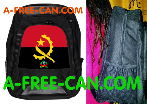 """DRAPEAU ANGOLA v1"" by A-FREE-CAN.COM - (Grand Sac à Doc Smile)"