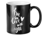 """2 MUGS MAGIQUES NOIRS I'M IN LOVE WITH YOU"" - (33 CL)"