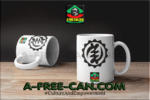 """ADINKRA GYE NYAME"" by A-FREE-CAN.COM - (2 Mugs par lot)"