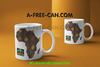 """AFRICA BOGOLAN v1"" by A-FREE-CAN.COM - (2 Mugs par lot)"