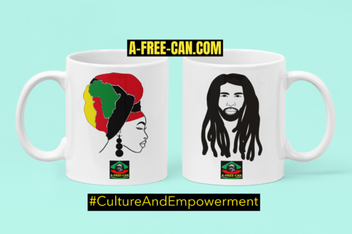"""KITAMBALA BLACK QUEEN + LOCSY KING"" by A-FREE-CAN.COM - (2 Mugs par lot)"