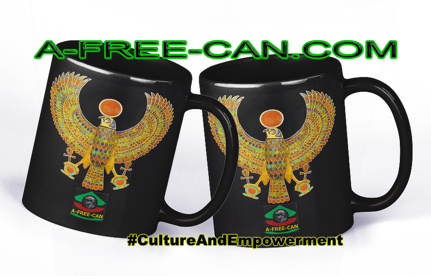 """RE-HORAKHTY, Un Trésor de Toutankhamon"" by A-FREE-CAN.COM - (Pack de 2 Mugs)"