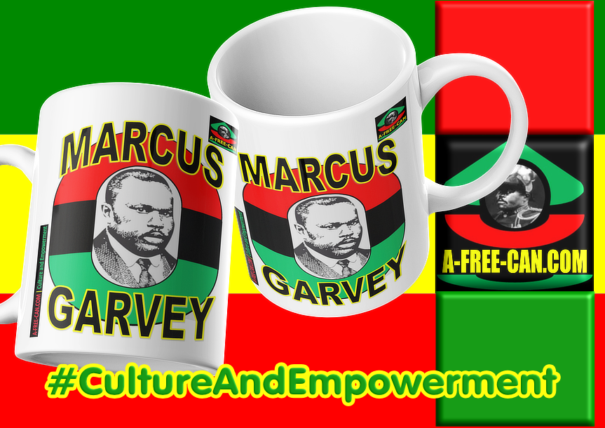 """MARCUS GARVEY v2"" by A-FREE-CAN.COM - (2 Mugs par lot)"