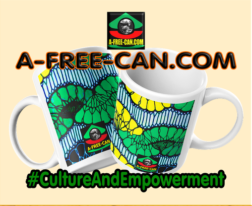 """KINSHASA"" by A-FREE-CAN.COM - (Pack de 2 Mugs Wax)"