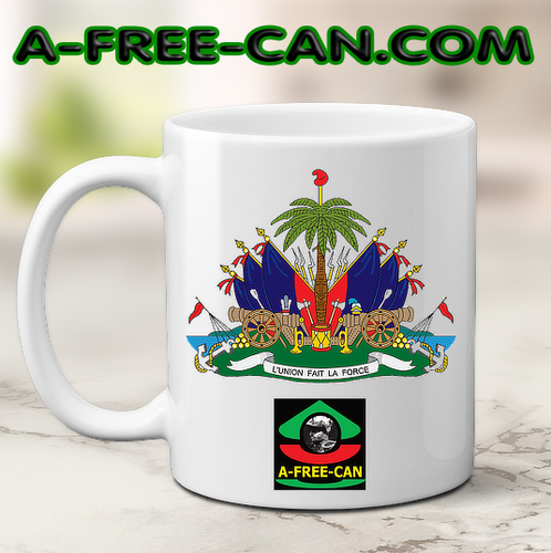 """ARMOIRIE HAÏTI L'UNION FAIT LA FORCE v1"" by A-FREE-CAN.COM - (Mug)"