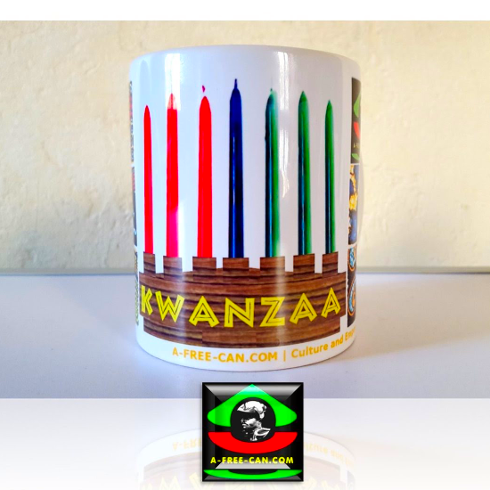 """KWANZAA"" by A-FREE-CAN - (Mug)"