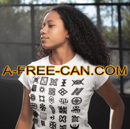"""ADINKRA WALL 1"" by A-FREE-CAN.COM - (T-SHIRT pour Femmes)"