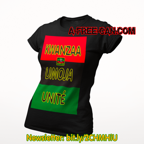 """BENDERE KWANZAA UMOJA v1"" by A-FREE-CAN.COM - (T-SHIRT pour Femmes)"