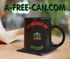 """POWERED BY BISSAP"" by A-FREE-CAN.COM - (Mug Noir)"