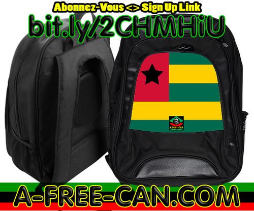 "Grand Sac à Dos: ""DRAPEAU TOGO BLACK STAR (vBS)"" by A-FREE-CAN.COM"