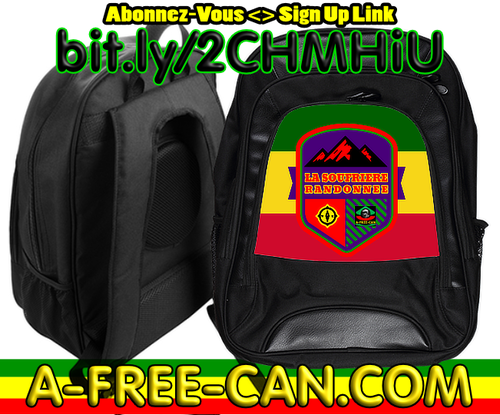 """LA SOUFRIERE RANDONNEE v2"" by A-FREE-CAN.COM - (Grand Sac à Dos)"