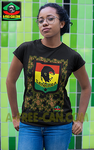 """SANKARA BLACK STAR KAMO rjv 1"" by A-FREE-CAN.COM - (T-Shirt Femmes)"
