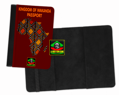 "Protège-Passeport Bogolan: ""KINGDOM OF WAKANDA v1"" by A-FREE-CAN"
