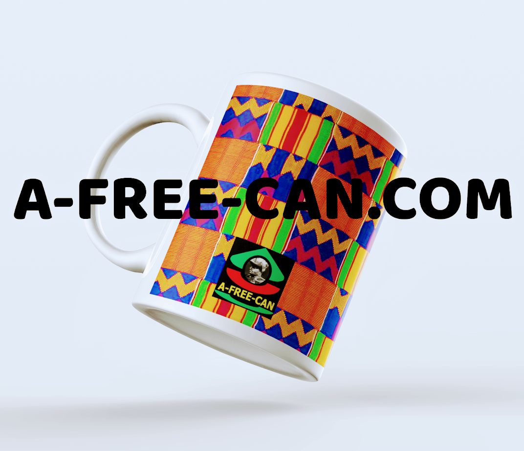 "Mug: ""KENTE 1"" by A-FREE-CAN.COM"
