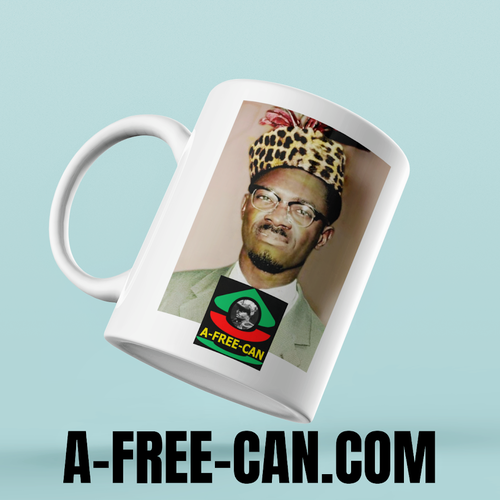 """LUMUMBA (v2)"" by A-FREE-CAN.COM - (Mug Leader)"