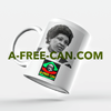 """MADIKIZELA MANDELA (v1)"" by A-FREE-CAN - (Mug Leader)"