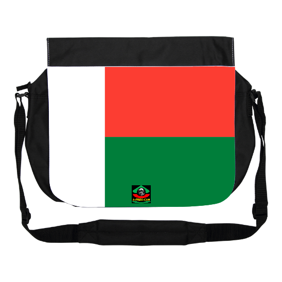 "GRAND Sac à bandoulière: ""DRAPEAU MADAGASCAR"" by A-FREE-CAN.COM"
