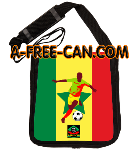 """DRAPEAU SÉNÉGAL FOOTBALL v3"" by A-FREE-CAN.COM - (Sac à Bandoulière Kamite)"