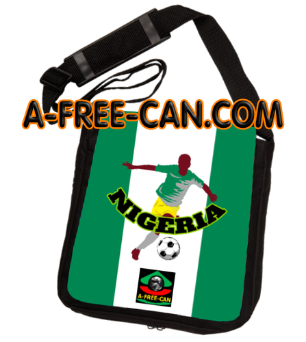 """DRAPEAU NIGERIA FOOTBALL v2"" by A-FREE-CAN.COM - (Sac à Bandoulière)"