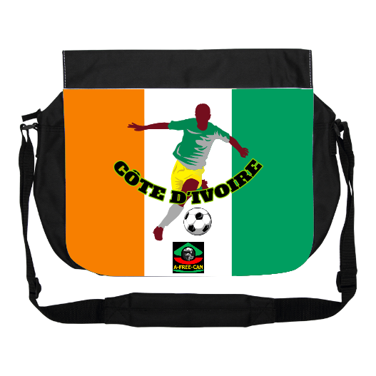 "GRAND Sac à bandoulière: ""DRAPEAU CÔTE D'IVOIRE FOOTBALL"" by A-FREE-CAN.COM"