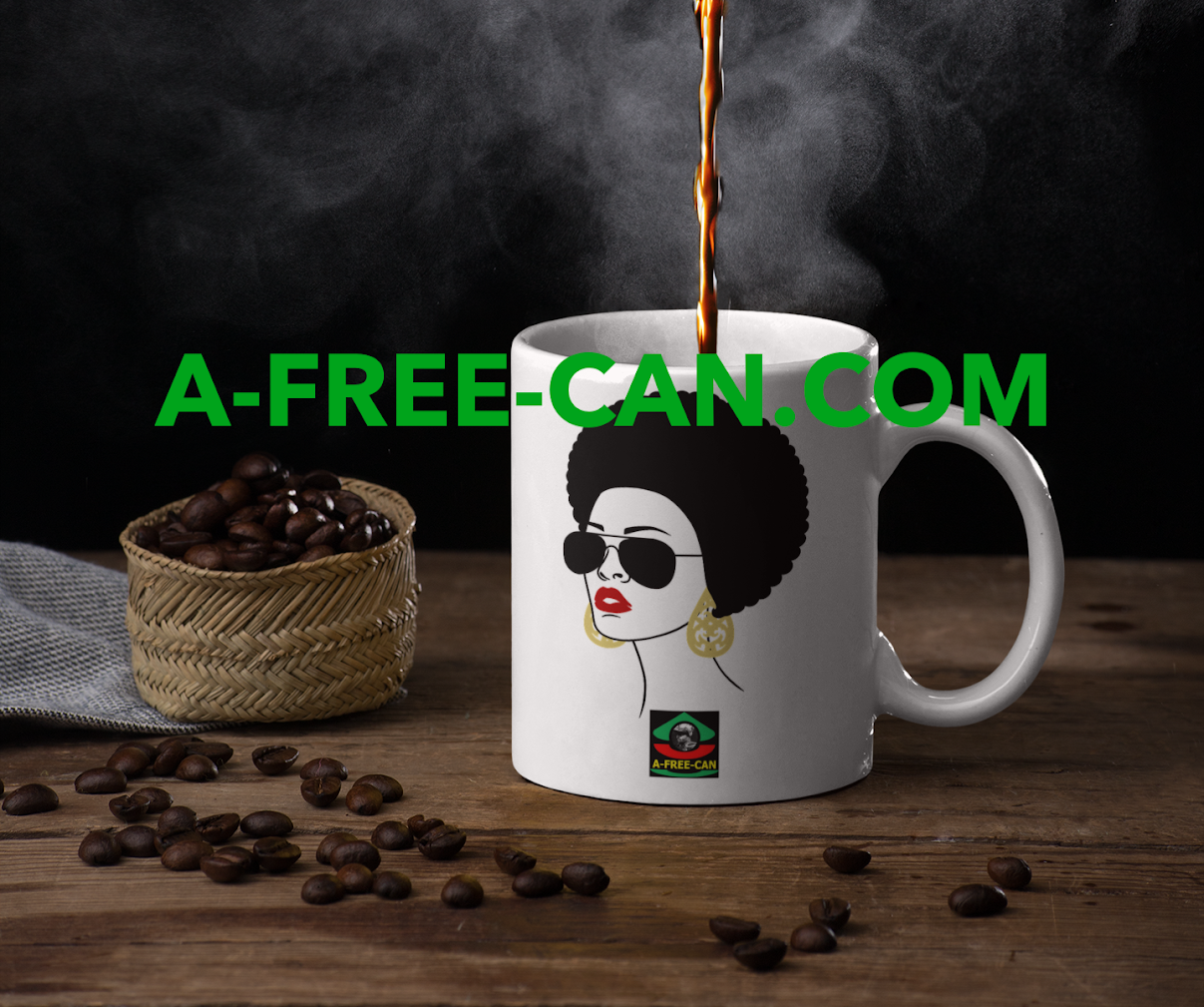 """AFRO HAIR 1"" by A-FREE-CAN.COM - (Mug)"