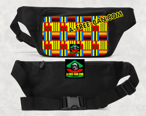 """KENTE BLUES"" (Sac Banane) by A-FREE-CAN.COM"