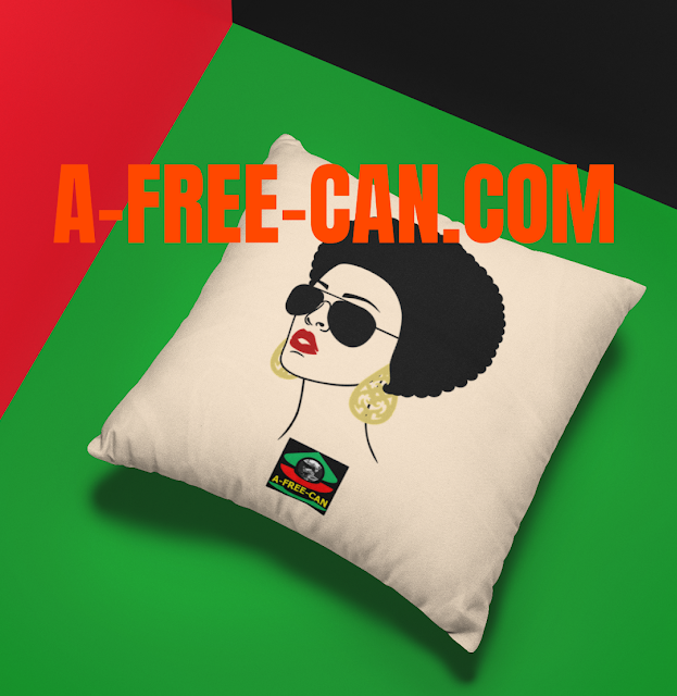 "DÉCO MAISON, Coussin: ""AFRO HAIR 1"" by A-FREE-CAN.COM"